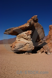 Siloli desert rock formation landscape bolivia.