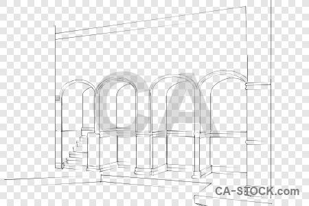 Sketch transparent building.