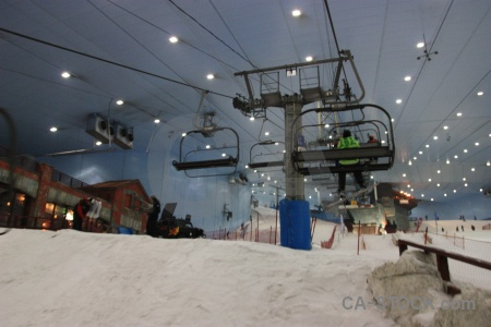 Skiing mall of emirates ski dubai uae.