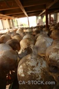 Skull choeung ek cambodia southeast asia mass grave.