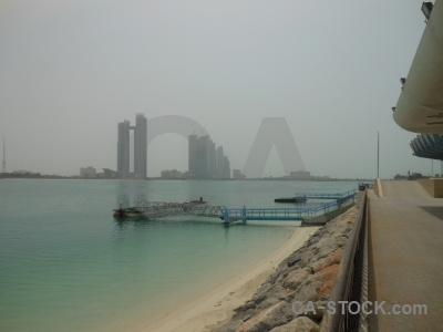 Sky abu dhabi building beach sand.