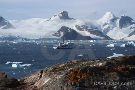 Sky akademik ioffe antarctica cruise rock sea.