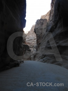 Sky al siq petra canyon unesco.