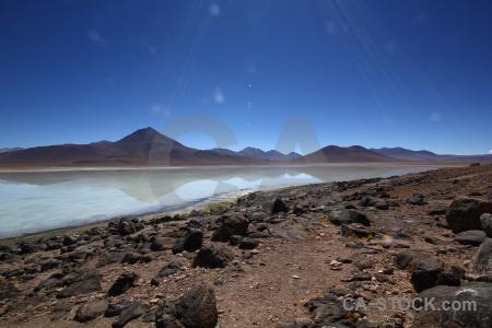 Sky andes landscape rock laguna blanca.