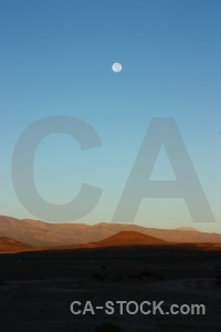 Sky andes moon landscape bolivia.
