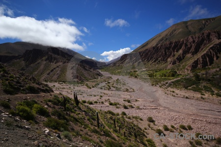 Sky andes south america river bed cloud.