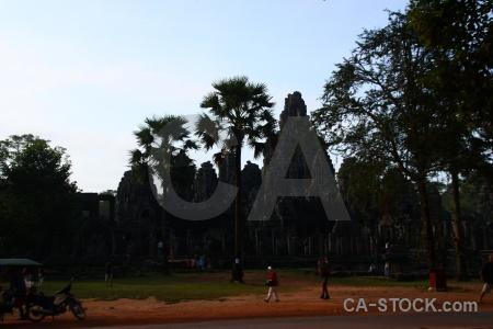 Sky angkor ruin cambodia prasat bayon.