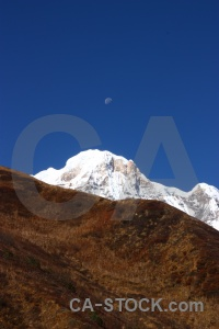 Sky annapurna sanctuary trek mountain south asia landscape.