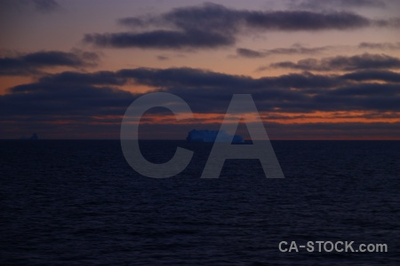 Sky antarctic peninsula sunrise bellingshausen sea south pole.