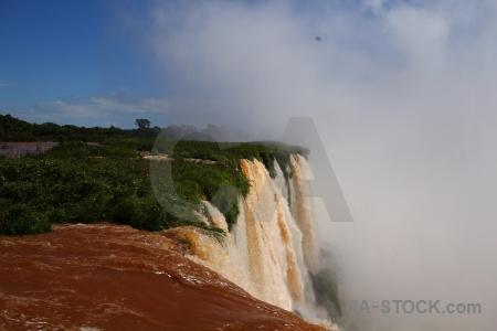 Sky argentina spray river iguassu falls.