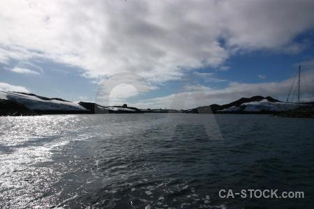 Sky argentine islands boat cloud wilhelm archipelago.