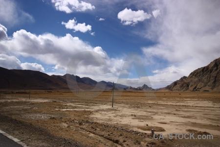 Sky arid mountain plateau asia.