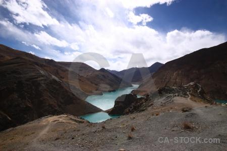 Sky asia arid lake desert.