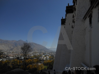 Sky asia building potala palace tibet.
