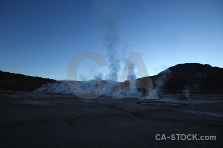 Sky atacama desert mountain el tatio landscape.