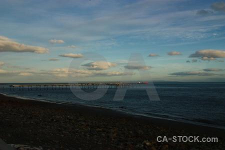 Sky beach sea punta arenas patagonia.