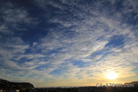Sky blue cloud.