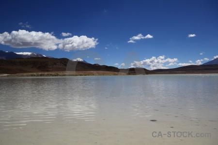 Sky bolivia salt lake landscape laguna honda.