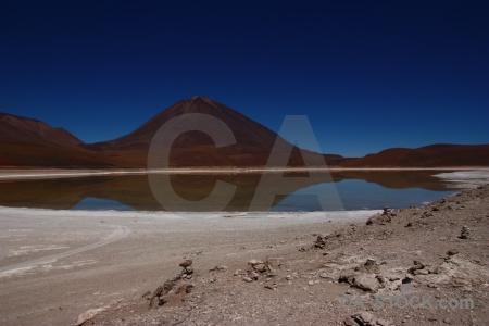 Sky bolivia water landscape lake.
