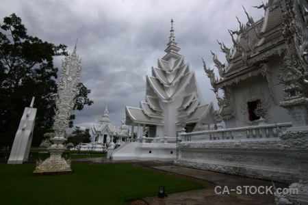 Sky buddhism buddhist tree wat rong khun.