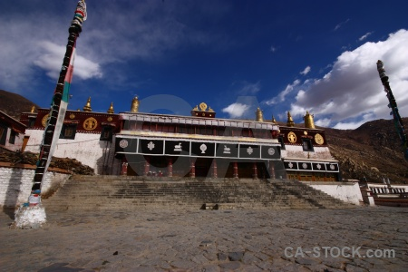 Sky buddhism drepung monastery symbol east asia.