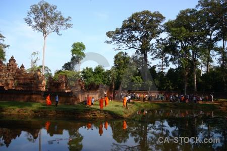 Sky buddhism lake prasat banteay srei southeast asia.