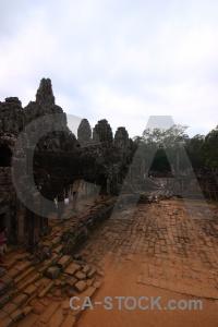 Sky buddhist stone ruin southeast asia.