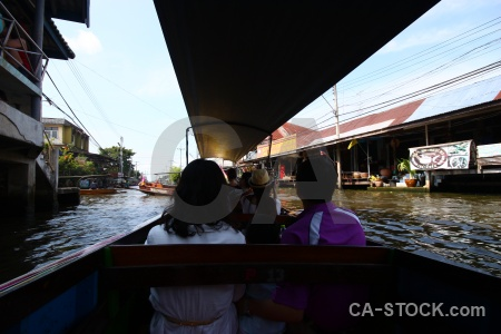 Sky canal water ton khem thailand.