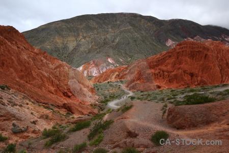 Sky cerro de los siete colores south america purmamarca cliff.