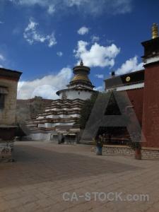 Sky china palcho monastery pelkor chode asia.
