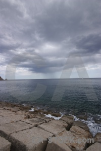 Sky cloud europe rock javea.