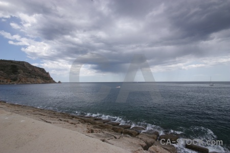 Sky cloud javea europe water.