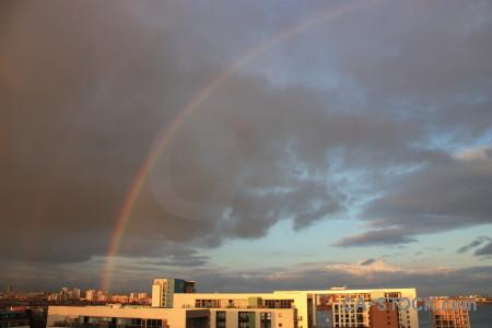 Sky cloud rainbow.