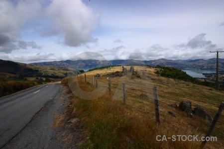 Sky cloud south island water road.
