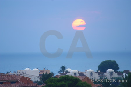 Sky cloud sunrise sunset javea.