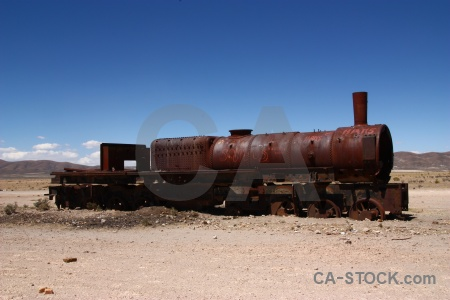 Sky funnel rust train cemetery uyuni.