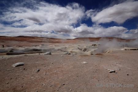 Sky geyser cloud andes bolivia.
