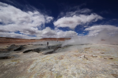 Sky geyser cloud bolivia rock.