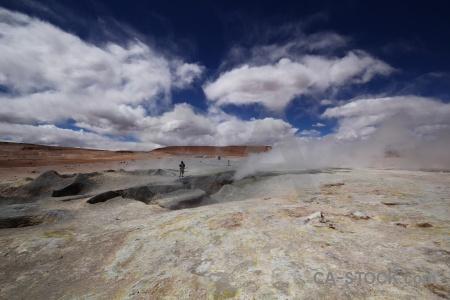 Sky geyser cloud bolivia rock.