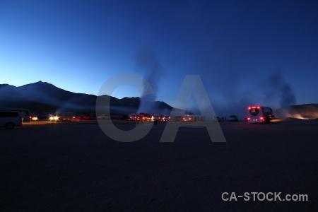 Sky geyser steam chile atacama desert.
