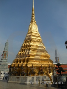 Sky grand palace southeast asia temple of the emerald buddha gold.
