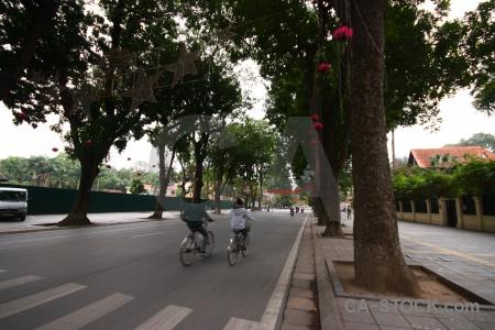Sky hanoi vietnam road motorbike.