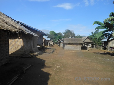 Sky hut khmu village southeast asia.