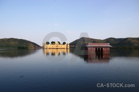 Sky india lake water palace reflection.