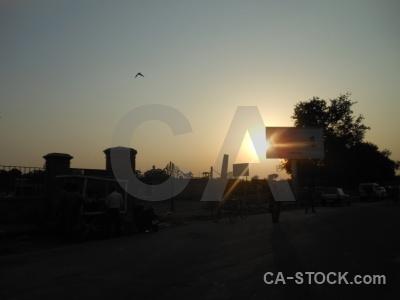 Sky india sunrise sunset silhouette.