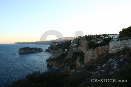 Sky javea europe spain cliff.