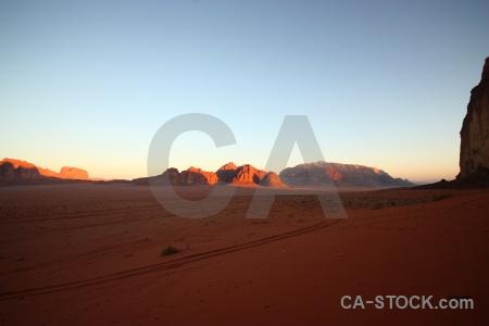 Sky jordan western asia landscape rock.