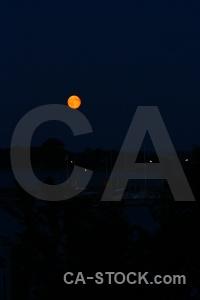 Sky karlskrona sweden moon europe.
