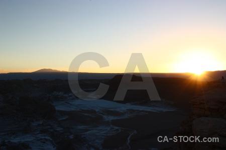 Sky landscape desert atacama valley of the moon.