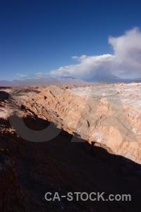 Sky landscape valle de la luna cordillera sal atacama desert.